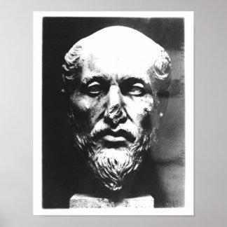Head of Plotinus Poster