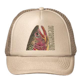 Head of Rainbow Trout Fish Trucker Hat