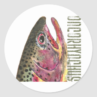 Head of Rainbow Trout Fish Stickers
