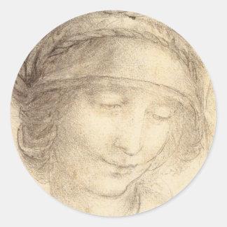 Head of Saint Anne Classic Round Sticker