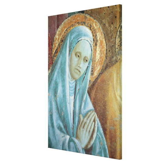 Head of Saint Anne from the Presentation of Canvas Print
