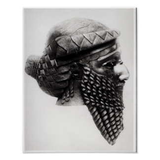 Head of Sargon I  2400-2200 BC Print