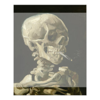 Head of Skeleton with Cigarette by Van Gogh Flyer