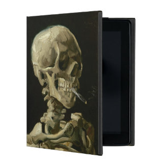 Head of Skeleton with Cigarette by Van Gogh iPad Covers