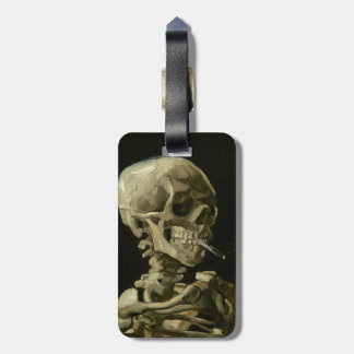 Head of Skeleton with Cigarette by Van Gogh Travel Bag Tag