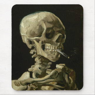 Head of Skeleton with Cigarette by Van Gogh Mouse Pad