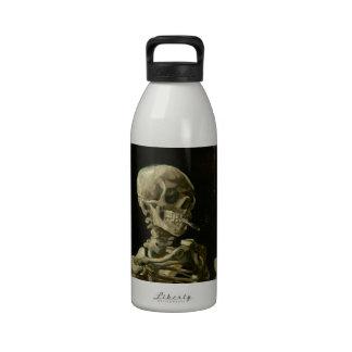 Head of Skeleton with Cigarette by Van Gogh Water Bottle