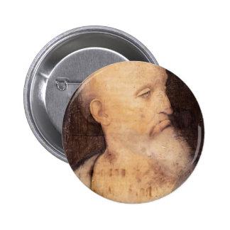 Head of St. Andrew by Leonardo da Vinci Button