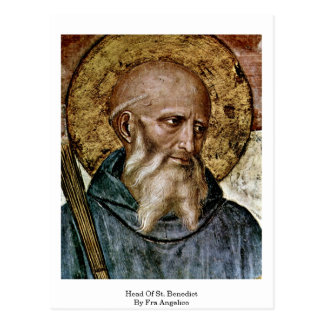 Head Of St. Benedict By Fra Angelico Postcard