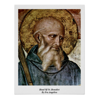 Head Of St. Benedict By Fra Angelico Poster