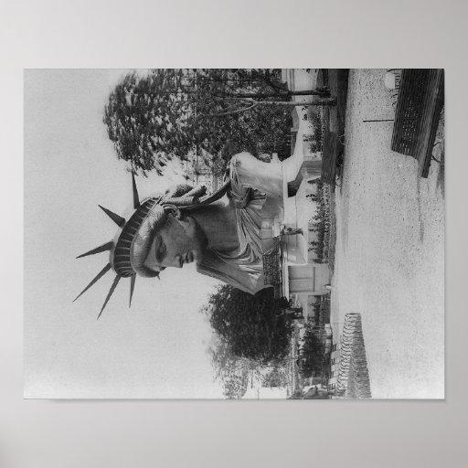 Head of Statue of Liberty in Paris Park Print
