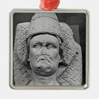 Head of the Antipope Clement VII Square Metal Christmas Ornament