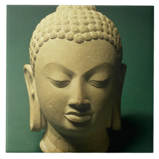 Head of the Buddha, Sarnath (sandstone) Ceramic Tile