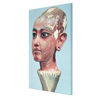 Head of the child king Tutankhamun emerging Canvas Prints