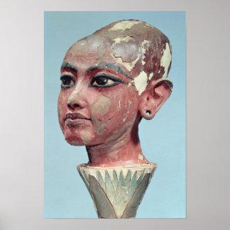 Head of the child king Tutankhamun emerging Poster