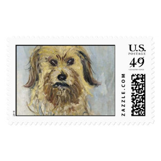 Head of the dog - Claude Monet Postage Stamp
