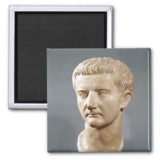 Head of the Emperor Tiberius 2 Inch Square Magnet