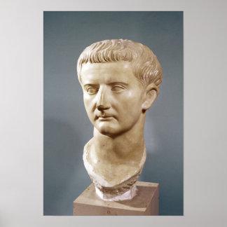Head of the Emperor Tiberius Poster