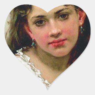 Head Of The Girl Heart Sticker