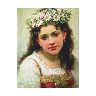 Head Of The Girl - Stretched Canvas Reproduction Canvas Print