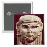 Head of the goddess Ishtar, from Amman, Jordan Pinback Button