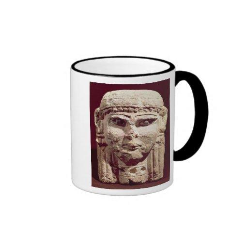 Head of the goddess Ishtar, from Amman, Jordan Ringer Coffee Mug