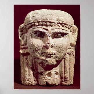 Head of the goddess Ishtar, from Amman, Jordan Print