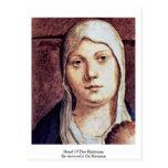 Head Of The Madonna By Antonello Da Messina Postcard