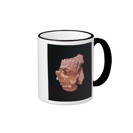 Head of the Mayan corn god, Oaxaca, c.500 AD Ringer Coffee Mug