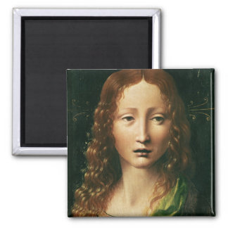 Head of the Saviour 2 Inch Square Magnet