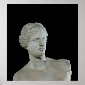 Head of the Venus de Milo, c.100 BC Poster