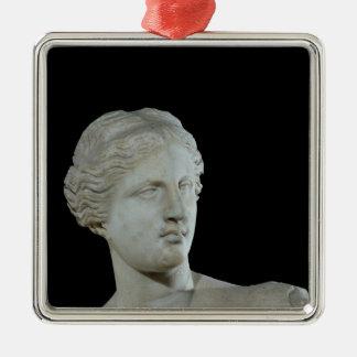 Head of the Venus de Milo, c.100 BC Square Metal Christmas Ornament
