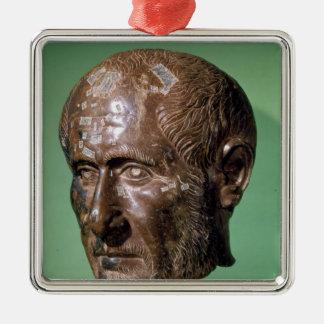 Head of Trajanus Decius from Samisegetuza Metal Ornament