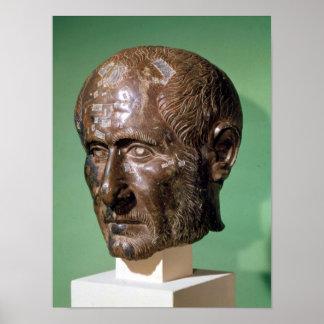Head of Trajanus Decius from Samisegetuza Poster