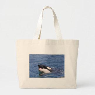 Head of whale killer canvas bags