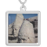 Head of Zeus-Oromandes and a goddess Square Pendant Necklace
