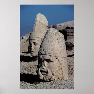 Head of Zeus-Oromandes and a goddess Print