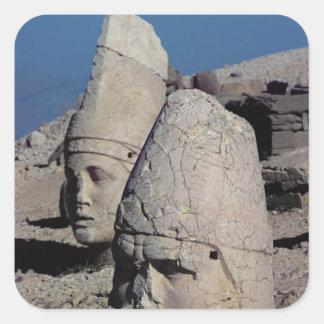 Head of Zeus-Oromandes and a goddess Square Sticker