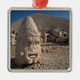 Head of Zeus-Oromandes Square Metal Christmas Ornament