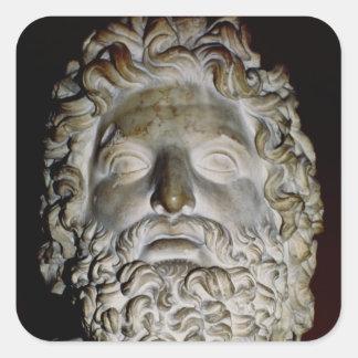 Head of Zeus Square Sticker