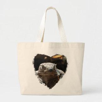 Head On Iguana Large Tote Bag