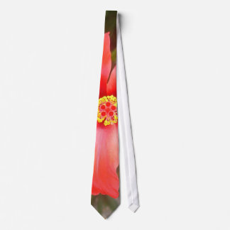 Head On Shot of a Red Tropical Hibiscus Flower Tie