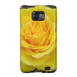 Head On View Of A Yellow Rose With Garden Galaxy S2 Covers