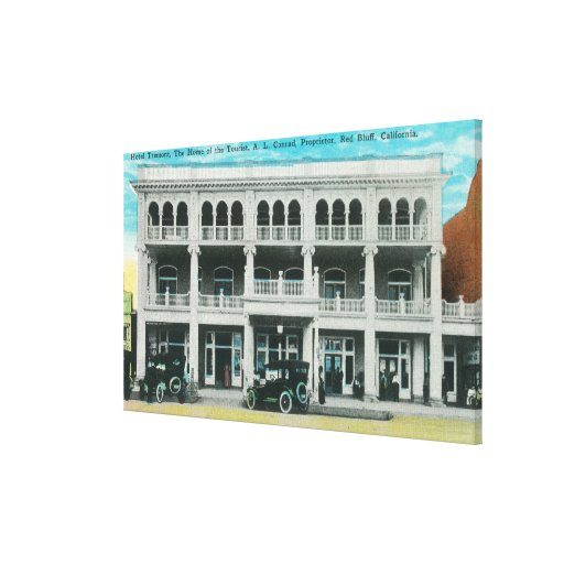 Head-On View of the Tremont HotelRed Bluff, CA Gallery Wrap Canvas