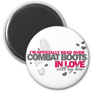 Head over Combat Boots 2 Inch Round Magnet