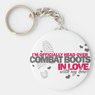Head over Combat Boots Basic Round Button Keychain