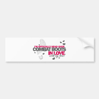 Head over Combat Boots Bumper Sticker
