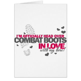 Head over Combat Boots Card