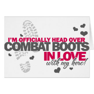 Head over Combat Boots Greeting Card