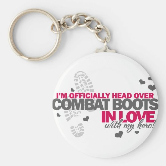 Head over Combat Boots Keychain
